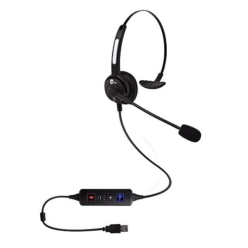 Headset USB VoIP HTU-300 Top Use Tubo de Voz Flexível