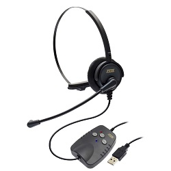 Adaptador de áudio digital USB DH-50 Zox DS-50 com Headset HZ30