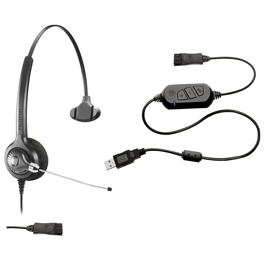 Headset Epko Compact QD com Interface USB - Felitron