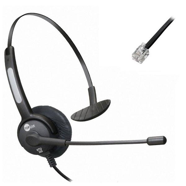 Headset HTU300 RJ microfone flexivel Top-Use