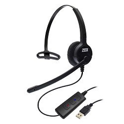 Adaptador de áudio digital USB DH-90 Zox DS-90 com Headset HZ40