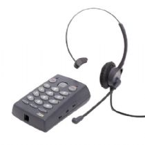Telefone Headset TZ30 Zox Base TS-40 com Headset HZ30 Tubo de Voz Flexivel
